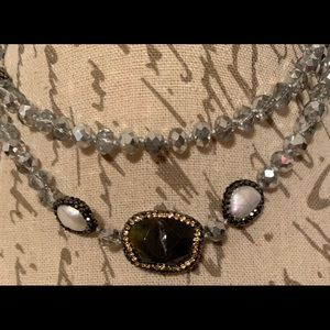 NEW Crystal Beaded Necklace